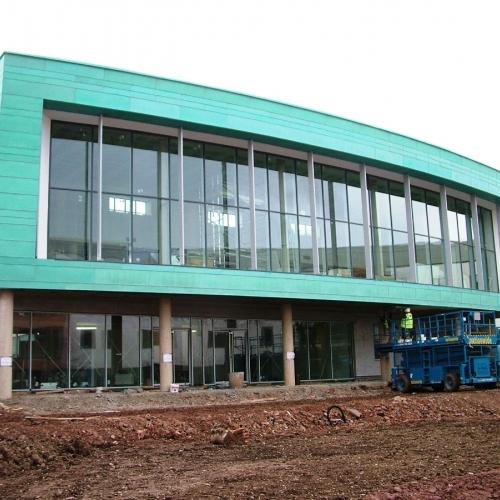 Joseph Chamberlain Sixth Form College Birmingham - Copper Cladding